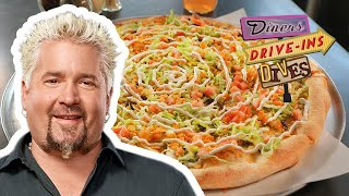 Dirty Taco Pizza On #DDD With Guy Fieri | Food Network