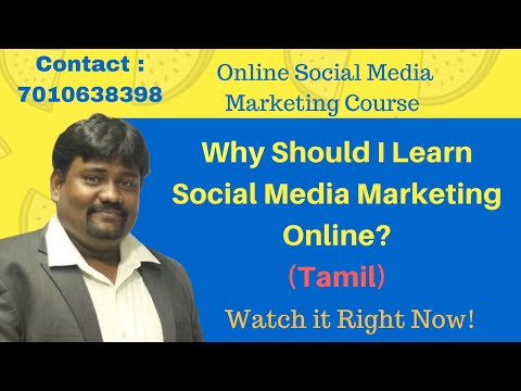 Online Social Media Marketing Course   Tamil   Job Training ...