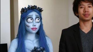 Emily (Corpse Bride) Halloween Make-up Look 1