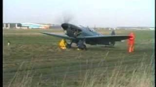 preview picture of video 'Mark Hanna Spitfire PL965 Engine Tests 22nd December 1992 at  Rochester'