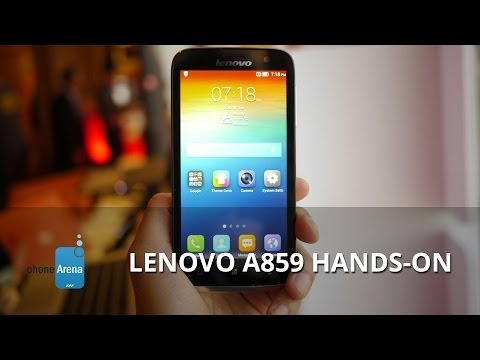 Lenovo A859 hands-on