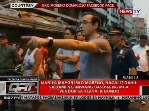 [GMA]  QRT: Manila Mayor Isko Moreno, nagalit dahil sa dami ng iniwang basura ng mga vendor…