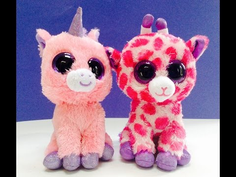 Beanie Baby BOOS Unicorn Magic and Giraffe Twigs