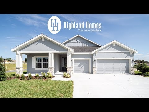 Wysteria home plan by Highland Homes - Florida New Homes for Sale