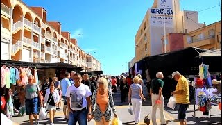 preview picture of video 'Torre La Mata Wednesday Street Market, Spain'