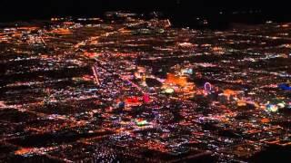 Las Vegas Night Flight Approach