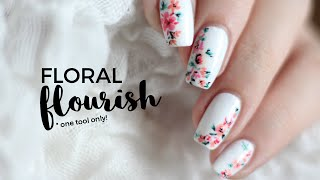 One Tool Only: Easy Abstract Floral Nail Art   Followthatway