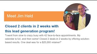 Marketing Agency Case Study | How Jim got 2 clients in 2 weeks!