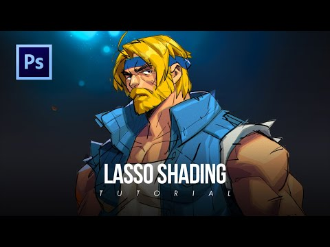 How to use the Lasso Tool to Color Digital art