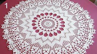 CROCHET Doily Tutorial How To Crochet Part 1