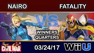 2GGC: Civil War - NRG | Nairo (Zero Suit Samus) Vs. FS | Fatality (Captain Falcon) Winners Quarters