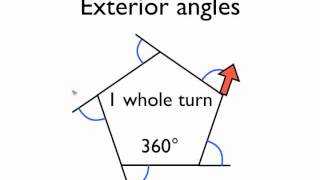 Angles in polygons- exterior angles