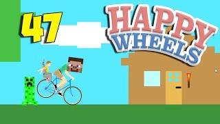 ВЕСЁЛЫЙ ДЯДЬКА КРИПЕР - Happy Wheels 47 (Карты Minecraft)