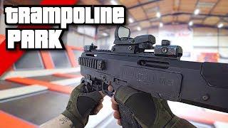 Airsoft War FPS: Insane Trampoline Park Shootout!