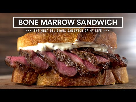 Yall Ever Tried A Bone Marrow Steak Sandwich?