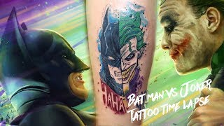 BATMAN VS JOKER TATTOO TIMELAPSE