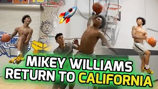 Mikey Williams Returns Home & Goes Right To The LAB! Links W/ NBA Trainer & Former Ysidro Teammate 💪