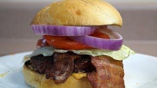 Steakhouse Steak Burger Recipe - from Amazingribs.com - BBQFOOD4U