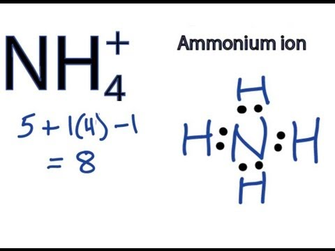 NH4+ Lewis Structure - How to Draw the Dot Structure for NH4+ (Ammonium Ion)