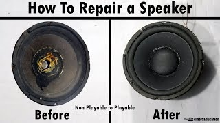 How to Repair Speaker at Home