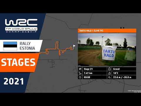 WRC 2021 第7戦ラリー・エストニア 全ステージのコース紹介動画