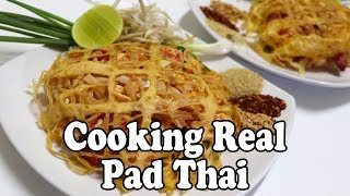 Cooking Pad Thai In Thailand. Shopping For Ingredients At A Market & A Pad Thai Recipe In Thailand
