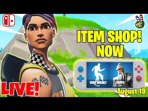 Fortnite Switch Player! // ITEM SHOP August 19, 2019 // (Fortnite Battle Royale LIVE)