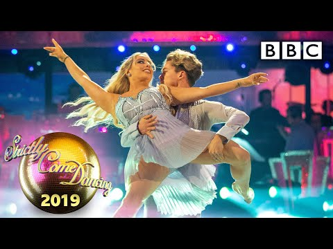 Saffron Barker and AJ dance Contemporary to Because You Loved Me - Week 4   BBC Strictly 2019