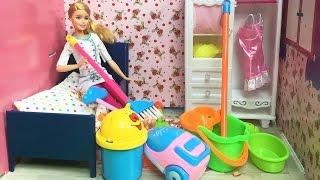 Barbie Ile Temizlik Vakti   Barbie Oyuncak Bebek   EvcilikTV