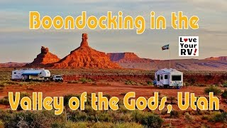 Boondocking in the Valley of the Gods in Southern Utah