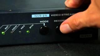 How-to Setup Tutorial: Stream & Record Live Video w Datavideo NVS-25