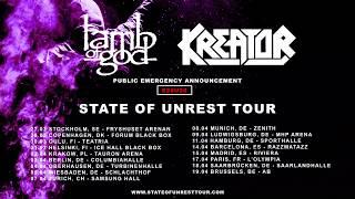 Lamb of God – State Of Unrest Tour 2020 w/ Kreator (EU/UK) Thumbnail