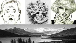 Смотреть онлайн Необычный способ рисования ластиком