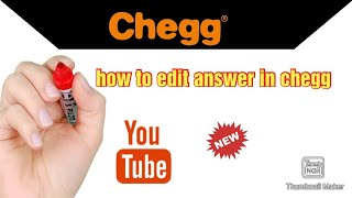 How to edit answer in chegg