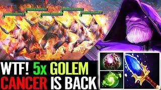 WTF 5x Golems CANCER is BACK Bulldog Warlock Most Fun Dota 2 Gameplay