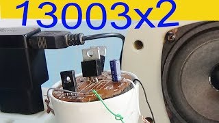 How to make a simple audio amplifier, use 3 transistors 13003 and d882 to do speaker circuit
