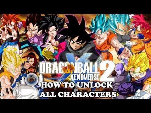 Dragon Ball Xenoverse 2 How to Unlock All Characters! Hit, SSJ4 Goku/Vegeta/Gogeta, Black & More