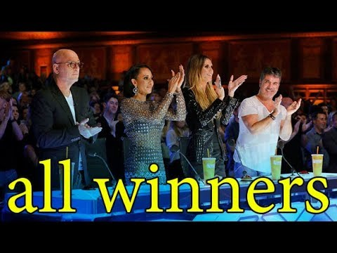 All Winners America's Got Talent ALL TIME Update (видео)