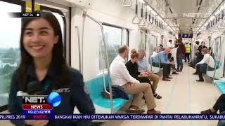 Perwakilan Duta Besar Uni Eropa Mencoba MRT Jakarta NET24