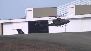 preview picture of video '2 RCAF military helicopters (Bell 412) landing at the same time @ CYOW'