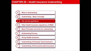 CHAPTER 20: HEALTH INSURANCE UNDERWRITING