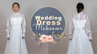 Wedding Dress Makeover Ep. 2 - Lace, Ruffles, And Chiffon!
