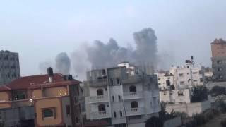 preview picture of video 'ضرب بمنطقة الانفاق برفح'