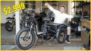 I BOUGHT an ELECTRIC 3-WHEEL BIKE for $2,999...Here's What it's Like