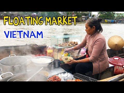NOODLES on a Boat: FLOATING MARKET Tour of Mekong Delta VIETNAM