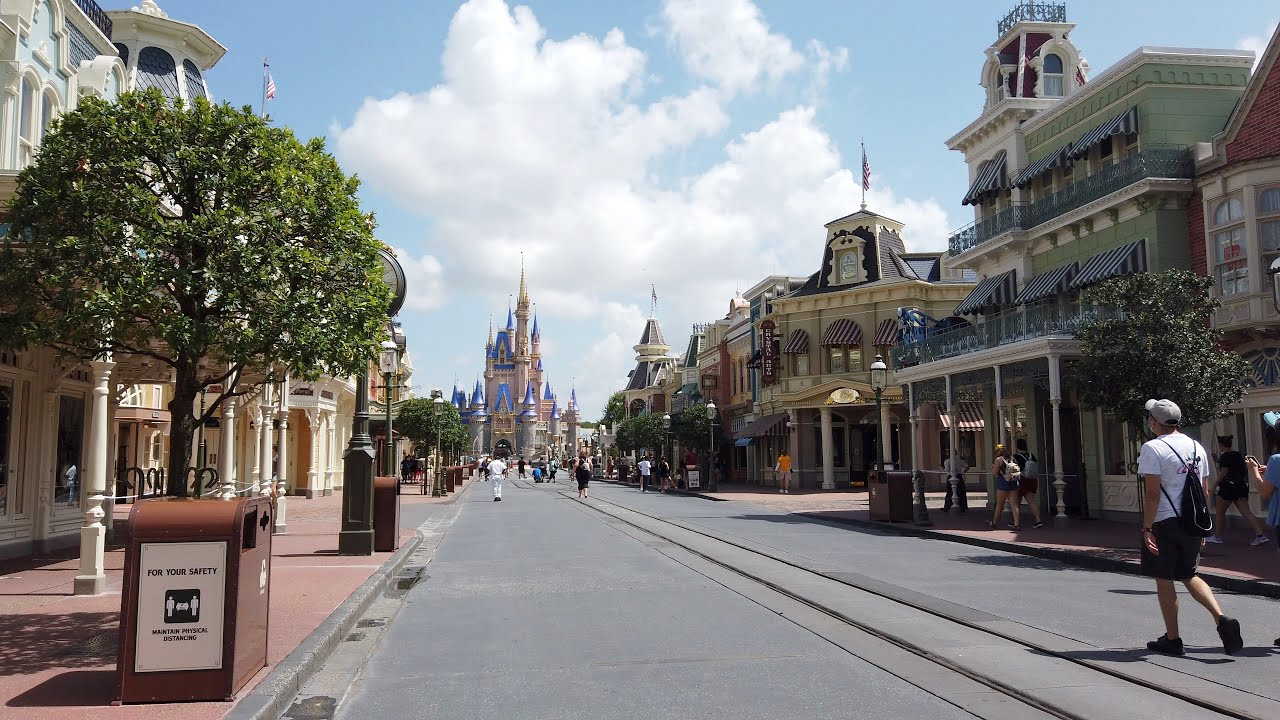 Walk-through of the physically distanced Magic Kingdom