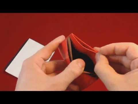 BVP Súper Delgada Monedero Mini Billetera Tarjetero de Piel Calidad Vacuno, Más mini no se puede