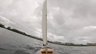 Sailing my RC Sailboat Swish with the Dji Digital Fpv System