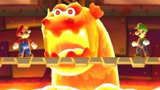New Super Mario Bros. U - All Castle Bosses (2 Player)