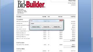 Bid Builder Report